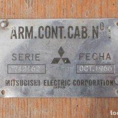 Antigüedades: PLACA SEÑALÉTICA CABINA DE CONDUCCIÓN TREN. RENFE. Lote 217452943