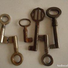 Antigüedades: 6 LLAVES ANTIGUAS DE HIERRO. LARGO 3,5 Y 6 CMS. Lote 217474708