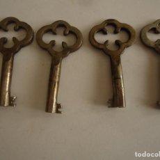 Antigüedades: 5 LLAVES ANTIGUAS DE HIERRO. LARGO 5 CMS.. Lote 217477320
