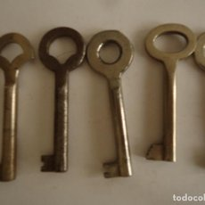Antigüedades: 5 LLAVES ANTIGUAS DE HIERRO. LARGO 6,5 CMS.. Lote 217477441