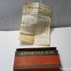 Antigüedades: FARMACIA ANTIGUO MEDICAMENTO ARSENICAN LABORATORIOS TICIA AÑOS 30-40. Lote 217484636