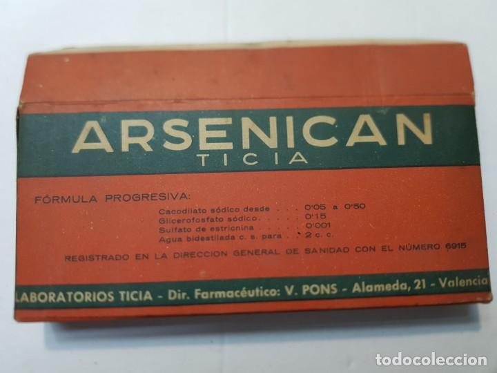 Antigüedades: Farmacia antiguo medicamento Arsenican laboratorios Ticia años 30-40 - Foto 3 - 217484636