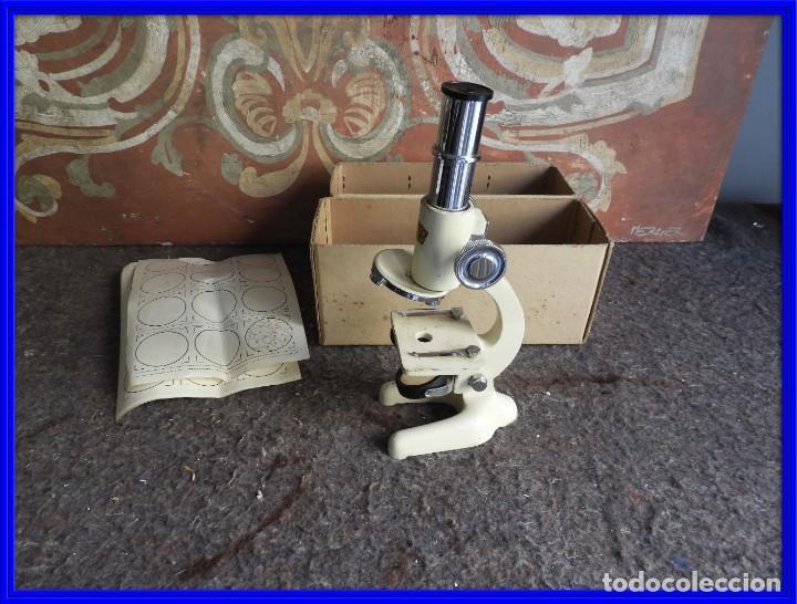 MICROSCOPIO DE VIAJE OPTICO PARIS (Antigüedades - Técnicas - Instrumentos Ópticos - Microscopios Antiguos)