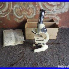 Antigüedades: MICROSCOPIO DE VIAJE OPTICO PARIS. Lote 217501796