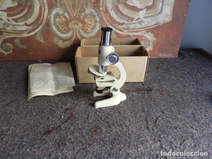 Antigüedades: MICROSCOPIO DE VIAJE OPTICO PARIS - Foto 2 - 217501796