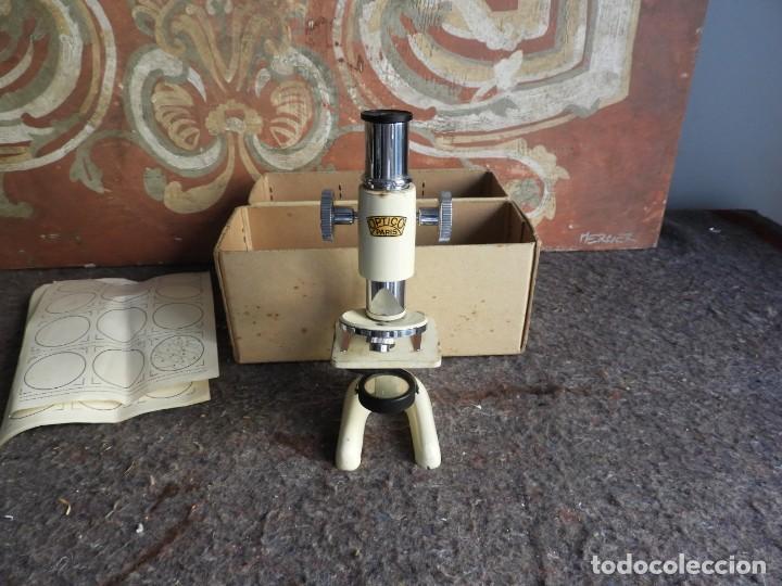 Antigüedades: MICROSCOPIO DE VIAJE OPTICO PARIS - Foto 3 - 217501796