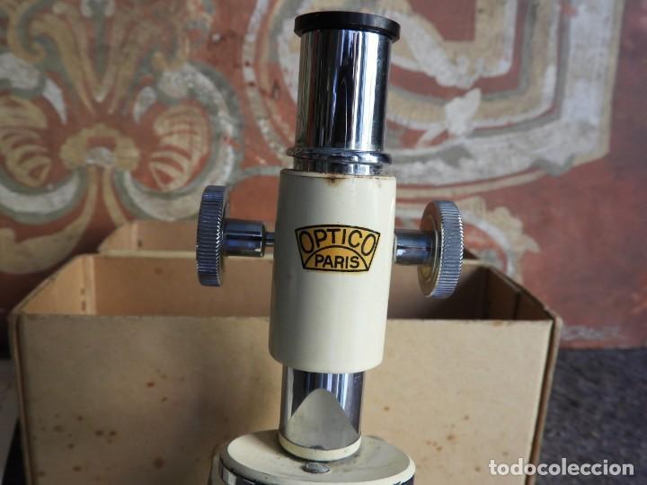 Antigüedades: MICROSCOPIO DE VIAJE OPTICO PARIS - Foto 4 - 217501796