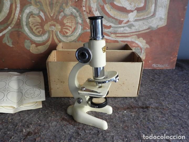 Antigüedades: MICROSCOPIO DE VIAJE OPTICO PARIS - Foto 5 - 217501796