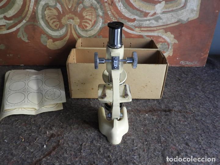 Antigüedades: MICROSCOPIO DE VIAJE OPTICO PARIS - Foto 7 - 217501796
