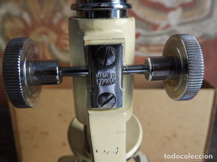 Antigüedades: MICROSCOPIO DE VIAJE OPTICO PARIS - Foto 9 - 217501796
