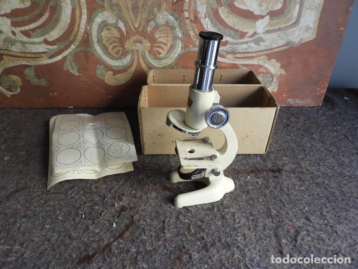 Antigüedades: MICROSCOPIO DE VIAJE OPTICO PARIS - Foto 10 - 217501796