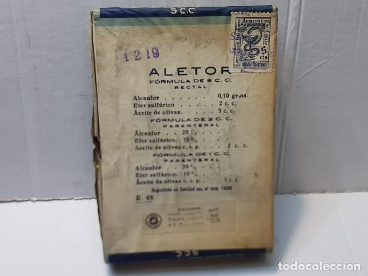 Antigüedades: Farmacia antiguo medicamento Aletor laboratorios Industrial Farmacéutica Cantabria 30-40 sin abrir - Foto 2 - 217505196