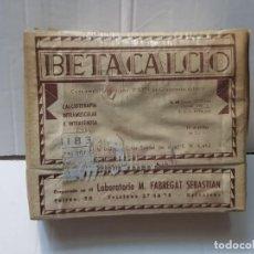 Antigüedades: FARMACIA ANTIGUO MEDICAMENTO BETACALCIO LABORATORIOS M.FABREGAT 30-40 SIN ABRIR. Lote 217505792