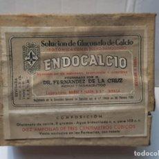 Antigüedades: FARMACIA ANTIGUO MEDICAMENTO ENDOCALCIO LABORATORIOS MUÑOZ Y PABON 30-40 SIN ABRIR. Lote 217506018
