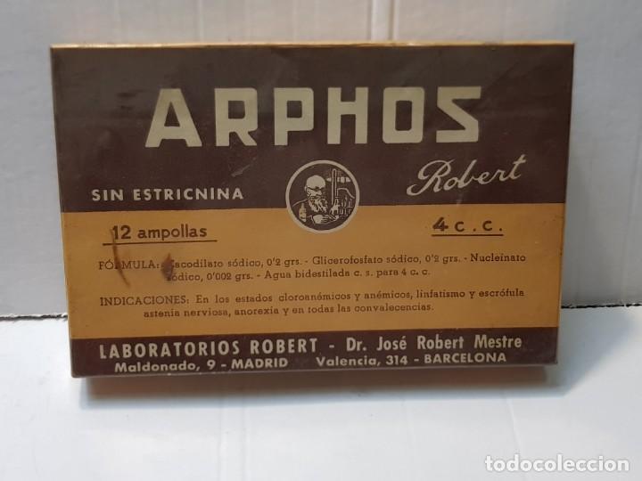 FARMACIA ANTIGUO MEDICAMENTO ARPHOS LABORATORIOS ROBERT 30-40 SIN ABRIR (Antigüedades - Técnicas - Herramientas Profesionales - Medicina)