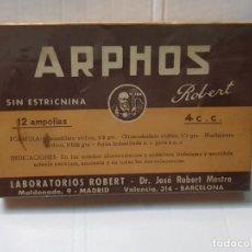 Antigüedades: FARMACIA ANTIGUO MEDICAMENTO ARPHOS LABORATORIOS ROBERT 30-40 SIN ABRIR. Lote 217509618