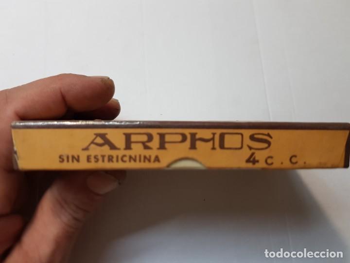 Antigüedades: Farmacia antiguo medicamento Arphos Laboratorios Robert 30-40 sin abrir - Foto 3 - 217509618