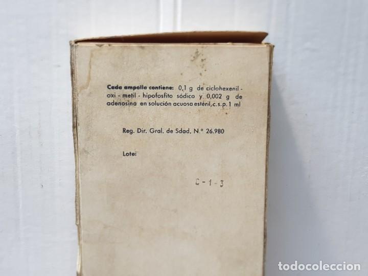 Antigüedades: Farmacia antiguo medicamento Fosfostimol Laboratorios Hoechst 30-40 sin abrir - Foto 2 - 217510192