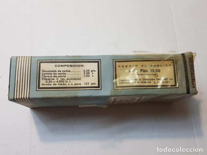 Antigüedades: Farmacia antiguo medicamento Cecalsan Laboratorios Santos 30-40 sin abrir - Foto 2 - 217510737