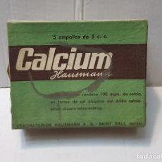 Antigüedades: FARMACIA ANTIGUO MEDICAMENTO CALCIUM LABORATORIOS HAUSMANN 30-40 SIN ABRIR. Lote 217511695