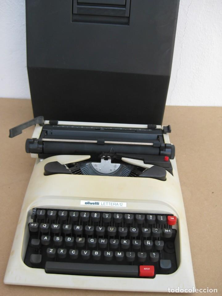 MAQUINA ESCRIBIR OLIVETTI LETTERA 12 (Antigüedades - Técnicas - Máquinas de Escribir Antiguas - Olivetti)