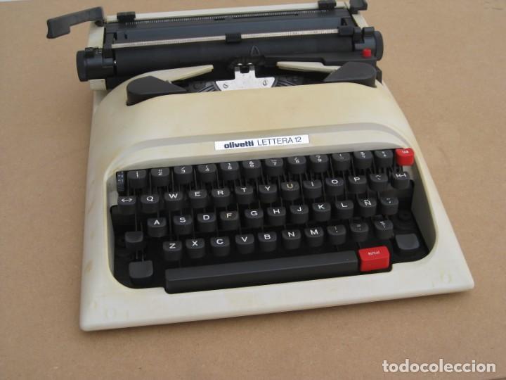 Antigüedades: Maquina escribir Olivetti Lettera 12 - Foto 3 - 217514635