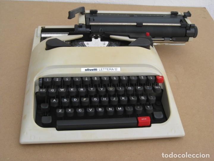 Antigüedades: Maquina escribir Olivetti Lettera 12 - Foto 4 - 217514635
