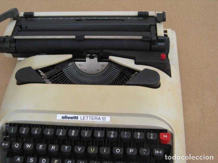 Antigüedades: Maquina escribir Olivetti Lettera 12 - Foto 9 - 217514635