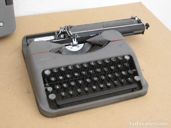 Antigüedades: Maquina escribir antigua. Hermes Baby. Suisse. - Foto 8 - 217529957