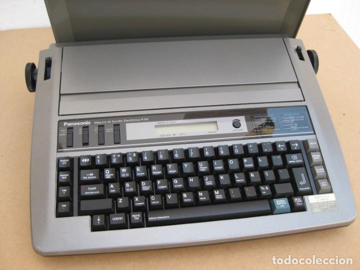 MAQUINA ELECTRONICA DE ESCRIBIR PANASONIC R194 (Antigüedades - Técnicas - Máquinas de Escribir Antiguas - Otras)