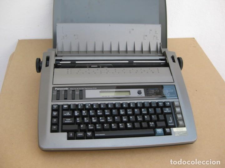 Antigüedades: Maquina electronica de escribir Panasonic R194 - Foto 4 - 217531693