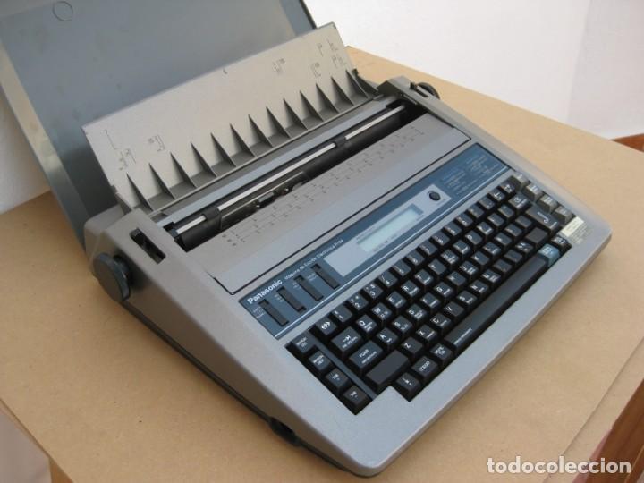 Antigüedades: Maquina electronica de escribir Panasonic R194 - Foto 5 - 217531693