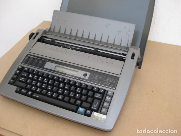 Antigüedades: Maquina electronica de escribir Panasonic R194 - Foto 6 - 217531693