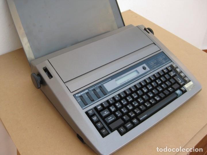 Antigüedades: Maquina electronica de escribir Panasonic R194 - Foto 7 - 217531693