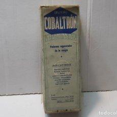 Antigüedades: FARMACIA ANTIGUO MEDICAMENTO COBALTRON LABORATORIOS ORZAN AÑOS 30-40 SIN ABRIR. Lote 217538707