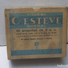 Antigüedades: FARMACIA ANTIGUO MEDICAMENTO C-ESTEVE LABORATORIOS ESTEVE 30-40 SIN ABRIR. Lote 217539850