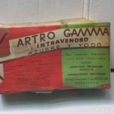 Antigüedades: FARMACIA ANTIGUO MEDICAMENTO ARTRO GAMMA LABORATORIOS GAMMA 30-40 SIN ABRIR. Lote 217540272