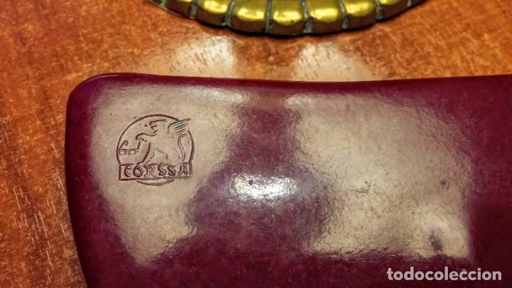 Antigüedades: Antigua funda de gafas de tapas duras. Casa Corssa. Para gafas planas - Foto 2 - 217541340