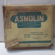 Antigüedades: FARMACIA ANTIGUO MEDICAMENTO ASMOLIN LABORATORIOS MOLINAS 30-40 SIN ABRIR. Lote 217544200