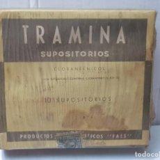 Antigüedades: FARMACIA ANTIGUO MEDICAMENTO TRAMINA LABORATORIOS FAES 30-40 SIN ABRIR. Lote 217547660