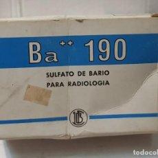 Antigüedades: FARMACIA ANTIGUO MEDICAMENTO BA 190 LABORATORIOS FARBIOS 30-40 SIN ABRIR. Lote 217548273