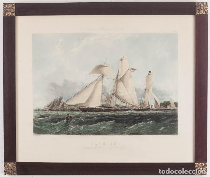 YACHTING - T. S. ROBINS DEL / J. HARRIS SCULP _1851 (Antigüedades - Antigüedades Técnicas - Marinas y Navales)
