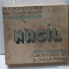 Antigüedades: FARMACIA ANTIGUO MEDICAMENTO NACIL LABORATORIOS OLALLA 30-40 SIN ABRIR. Lote 217550058