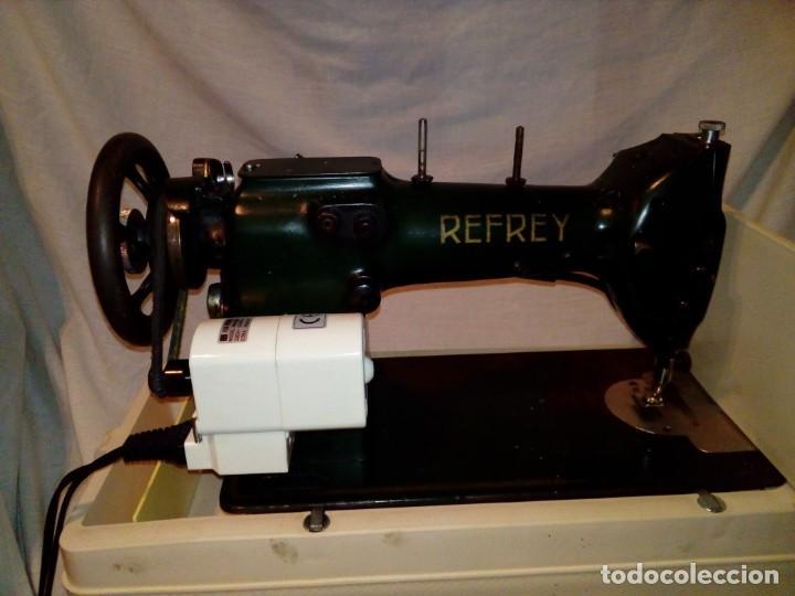 Antigüedades: maquina de coser REFREY - Foto 7 - 217625091