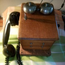 Teléfonos: TELEFONO ANTIGUO DE MAGNETO - PARED. AÑOS 30. STANDAR ELECTRICA. DESCRIPCION Y FOTOS.. Lote 217775218