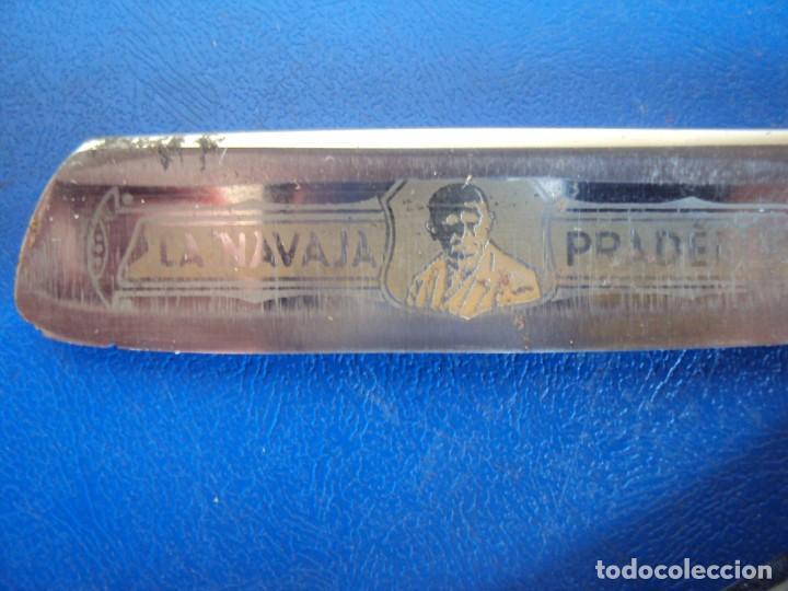 (NA-200900)LA NAVAJA PRADERE - HOJA GRABADA - PRADERE - UNION 8 - BARCELONA - SOLINGEN (Antigüedades - Técnicas - Barbería - Navajas Antiguas)