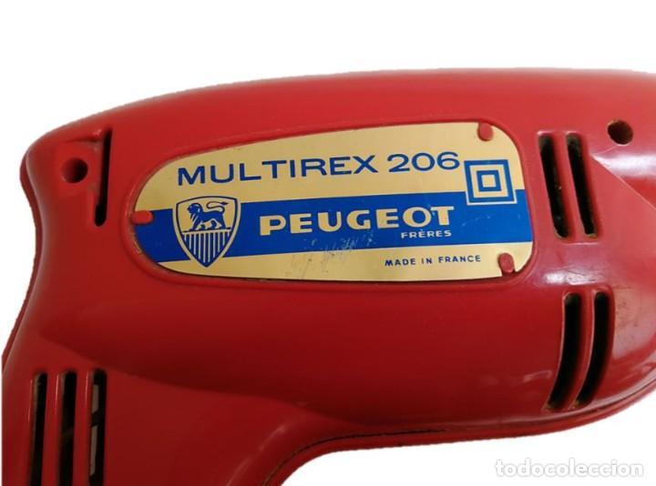 Antigüedades: ANTIGUO TALADRO PEUGEOT MULTIREX 206 - FRANCIA AÑOS 60 - Foto 2 - 217828895