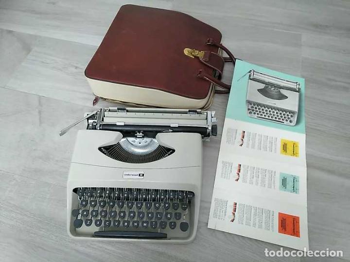 MAQUINA DE ESCRIBIR UNDERWOOD 18 CON SU MALETIN E INSTRUCCIONES TYPEWRITER AÑOS 60 (Antigüedades - Técnicas - Máquinas de Escribir Antiguas - Underwood)