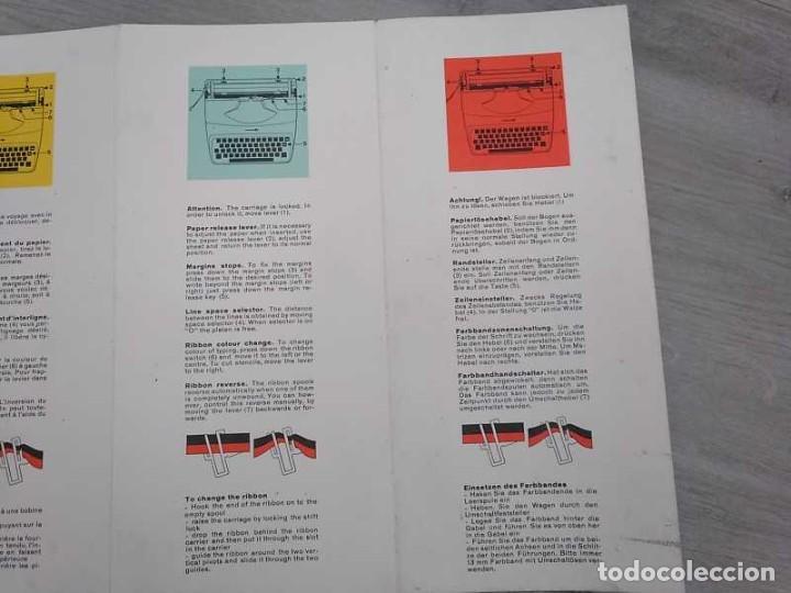 Antigüedades: MAQUINA DE ESCRIBIR UNDERWOOD 18 CON SU MALETIN E INSTRUCCIONES TYPEWRITER AÑOS 60 - Foto 69 - 217842040