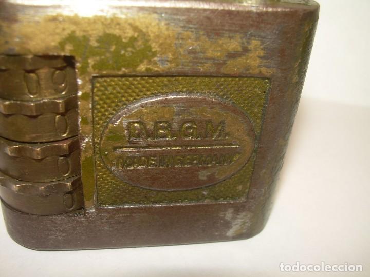Antigüedades: ANTIGUO Y RARO CANDADO DE COMBINACION POR RODILLOS Y PALANCAS.....GERMANY. - Foto 6 - 217889025